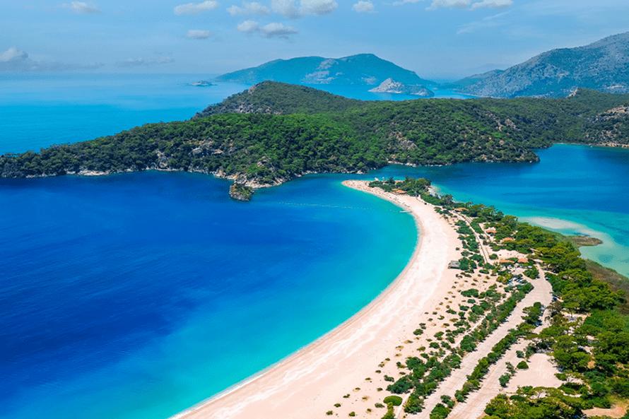Localización de las mejores playas de Turquía