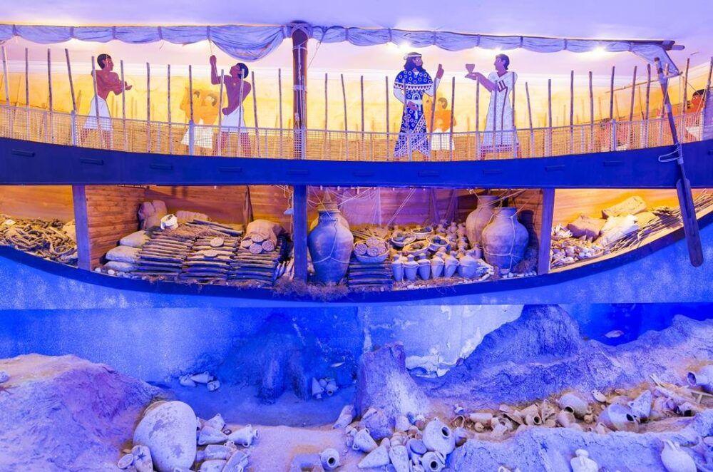 Exhibición Reconstrucción de nave antigua, Bodrum Museum Of Underwater Archaeology, Turquía