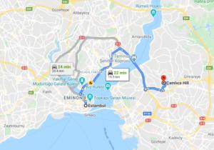 Cómo llegar a Çamlıca Hill, Turquía, desde Estambul