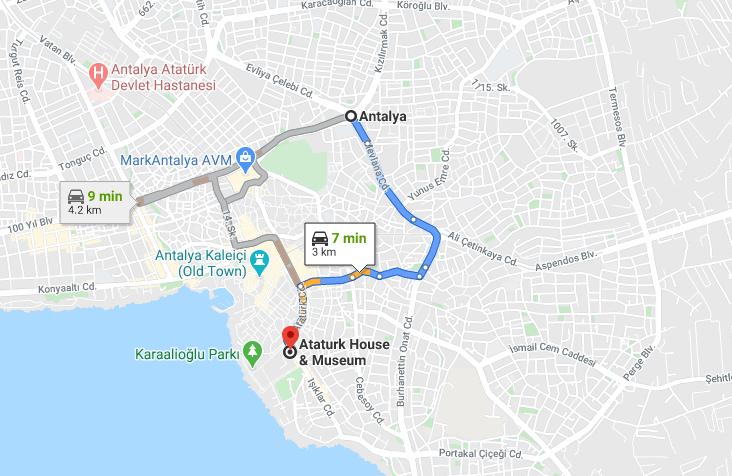 Cómo llegar a Ataturk House Museum, Turquía desde Antalya