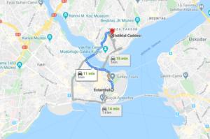 Cómo llegar a la Avenida de İstiklal, Turquía, desde Estambul