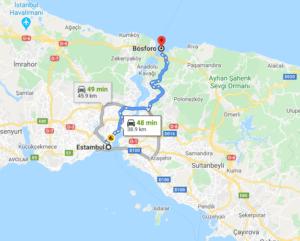 Cómo llegar a Bósforo, Turquía, desde Estambul