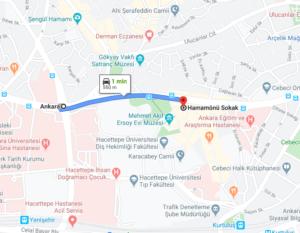 Cómo llegar a Hamamönü Sokak, Ankara