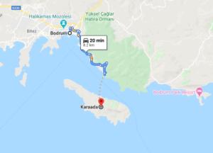 Cómo llegar a Karaada, Turquía, dsde Bodrum