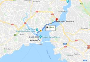 Cómo llegar a Mezquita de Ortaköy, Turquía, desde Estambul