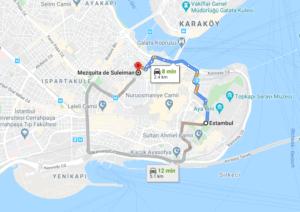 Cómo llegar a Mezquita de Solimán, Turquía, desde Estambul