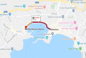 Cómo llegar a Milta Bodrum Marina, Turquía, desde Bodrum