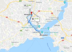 Cómo llegar a Miniaturk, Turquía, desde Estambul