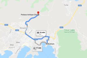 Cómo llegar a Pedasa Antique City, Turquía desde Bodrum