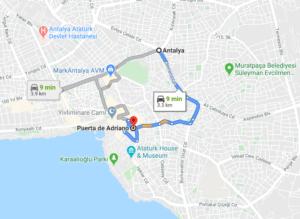 Cómo llegar a Puerta de Adriano, Turquía, desde Antalya