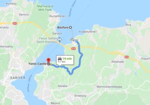 Cómo llegar a Yoros Castle, Turquía, desde Bósforo