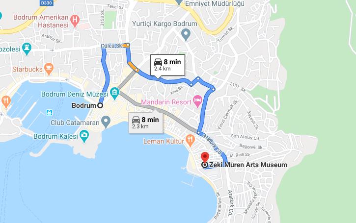 Cómo llegar a Zeki Muren Arts Museum, Turquia, desde Bodrum
