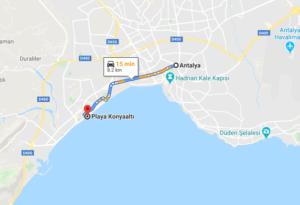 Cómo llegar a la playa Konyaalti, Turquía desde Antalya