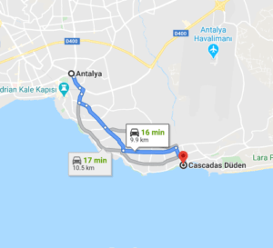 Cómo llegar a las Cascadas Düden, Turquía, desde Antalya