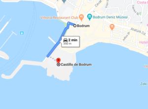 Cómo llegar al castillo de San Pedro de Halicarnaso, Turquía, desde Bodrum