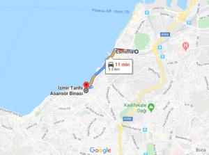 Como llegar a Asansor, Turquía, desde Esmirna