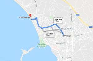 Cómo llegar a Çalış Plaji, Turquía, desde Fethiye