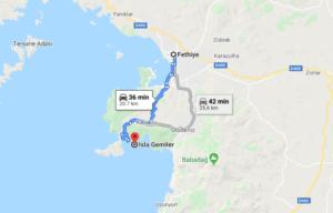 Cómo llegar a la Isla Gemiler, Turquía desde Fethiye