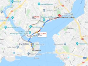 Cómo llegar a Palacio de Çırağan, Turquía, desde Estambul