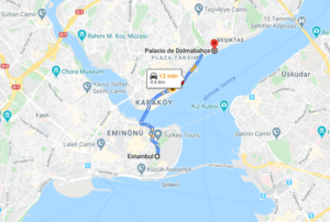 Cómo llegar a Palacio de Dolmabahçe, Turquía, desde Estambul