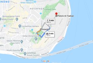 Cómo llegar al Palacio de Topkapi, Turquía, desde Estambul