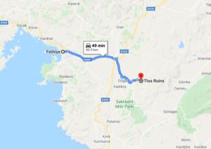 Cómo llegar a Tlos, Turquía desde Fethiye
