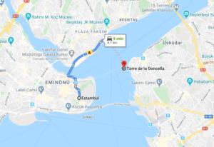 Cómo llegar a la Torre de la Doncella desde Estambul