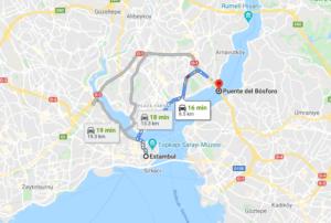 Cómo llegar al puente del Bósforo desde Estambul
