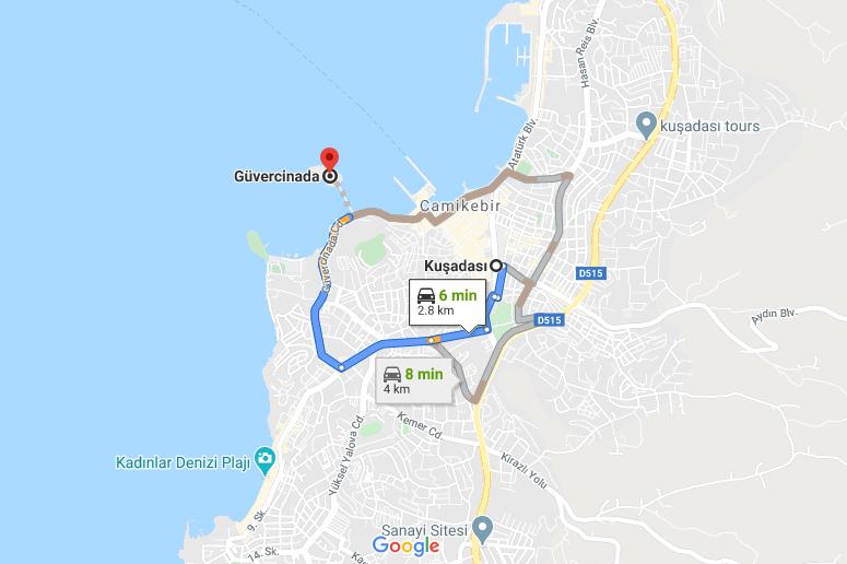 Cómo llegar a Güvercinada, Turquía desde Kuşadası