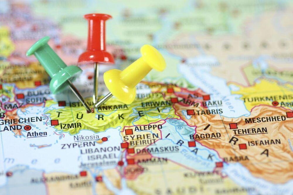 Localización de Turquía